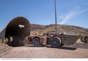 last Argyle underground loader leaves the mine