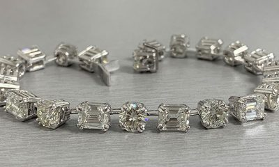 Emerald Cut & Round Diamond Tennis Bracelet