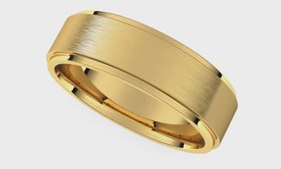 Stuller 14K yellow gold flat band
