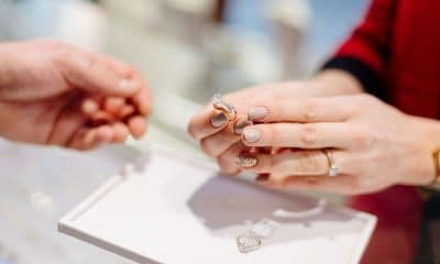 hand holding diamond ring