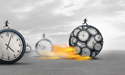people running on clocks-time management