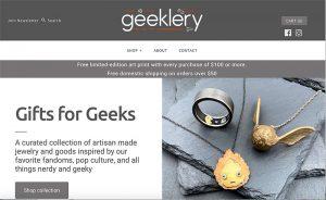 Geeklery-website