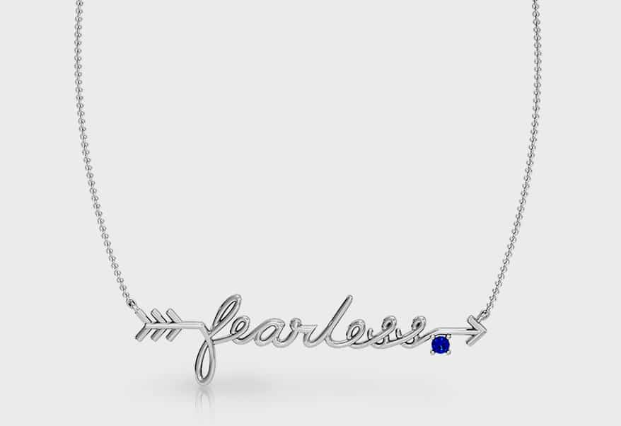 Girl Up Collection Sterling silver necklace with sapphire