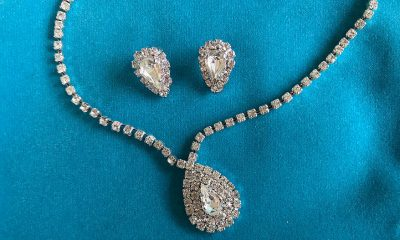 diamond earrings and necklace set