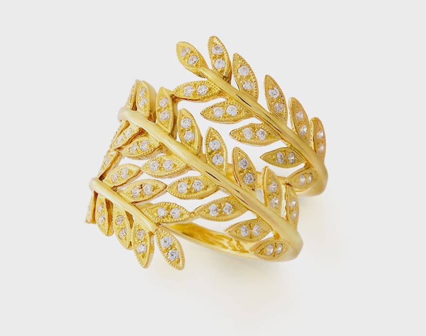 Beverley K 14K yellow gold ring with diamonds (0.40 TCW).