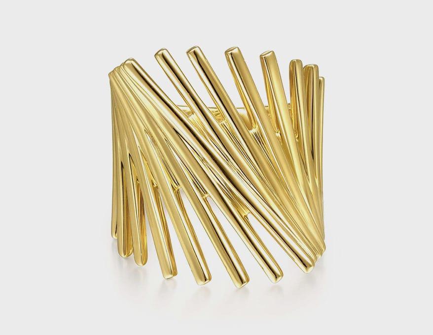 Gabriel & Co. 14K yellow gold ring.