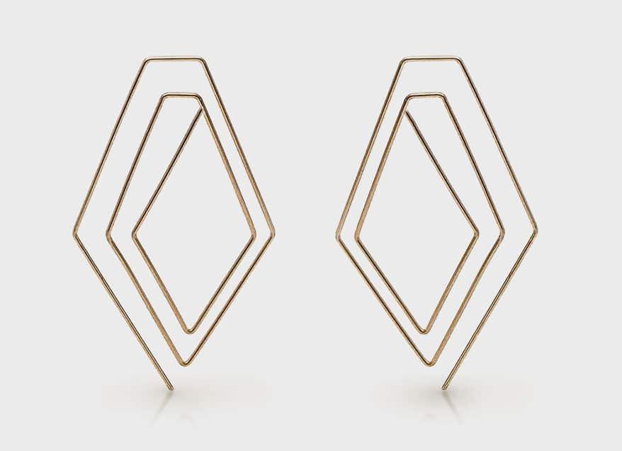 Cindy Liebel 14K yellow gold earrings.