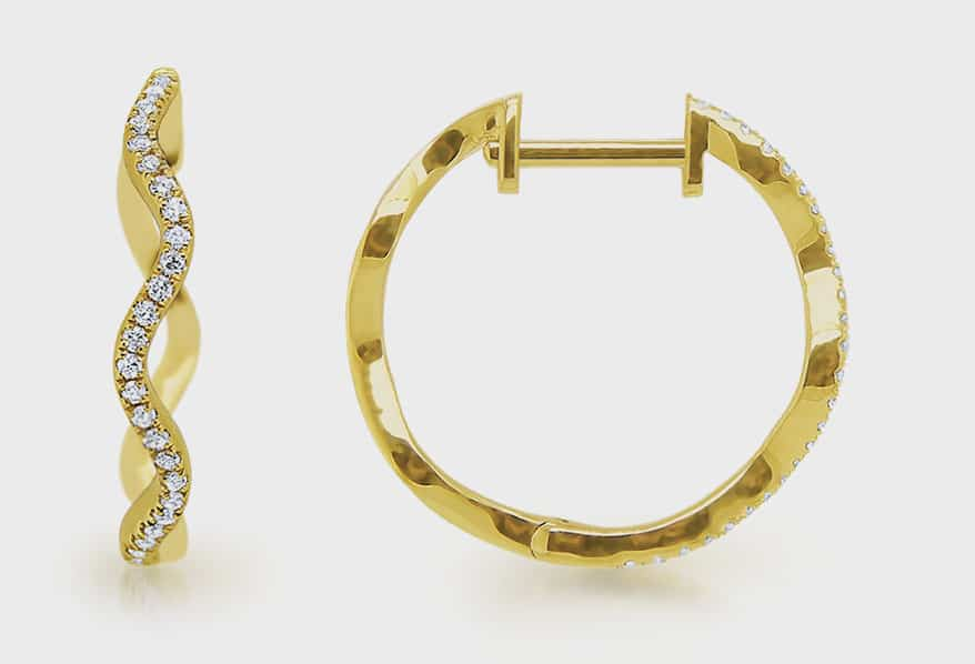 KC Designs 14K yellow gold earrings with diamonds