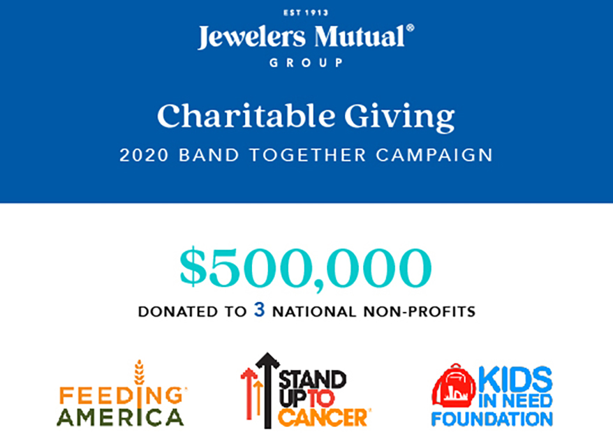 Jewelers Mutual Group Donates $500,000 to 3 Organizations In Band Together Charitable Campaign