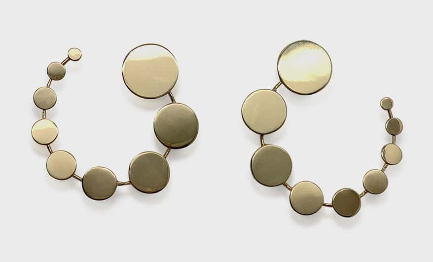 Made by Malyia 14K yellow gold vermeil earrings.