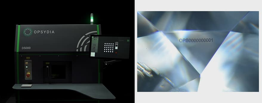 Opsydia Perfects Internal Identifier That Doesn't Affect The Clarity Grade Of Flawless Diamonds