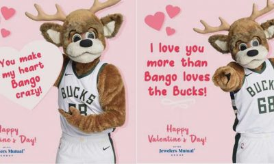 The Bucks and Jewelers Mutual are offering a customizable digital valentine that Bucks fans can send to loved ones for Valentine's Day.