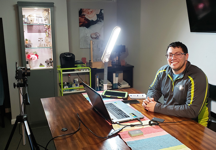 Stephen Kolokithas is helping other local businesses reach out to clients via live video.