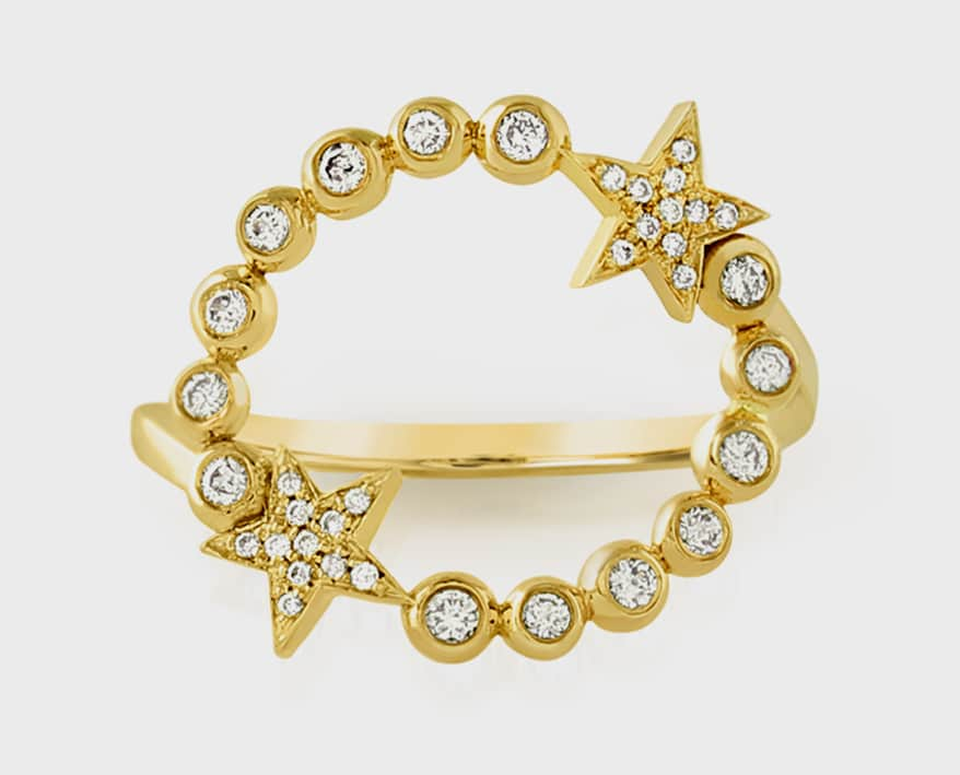 Joely Rae Jewelry 14K yellow gold ring with diamonds