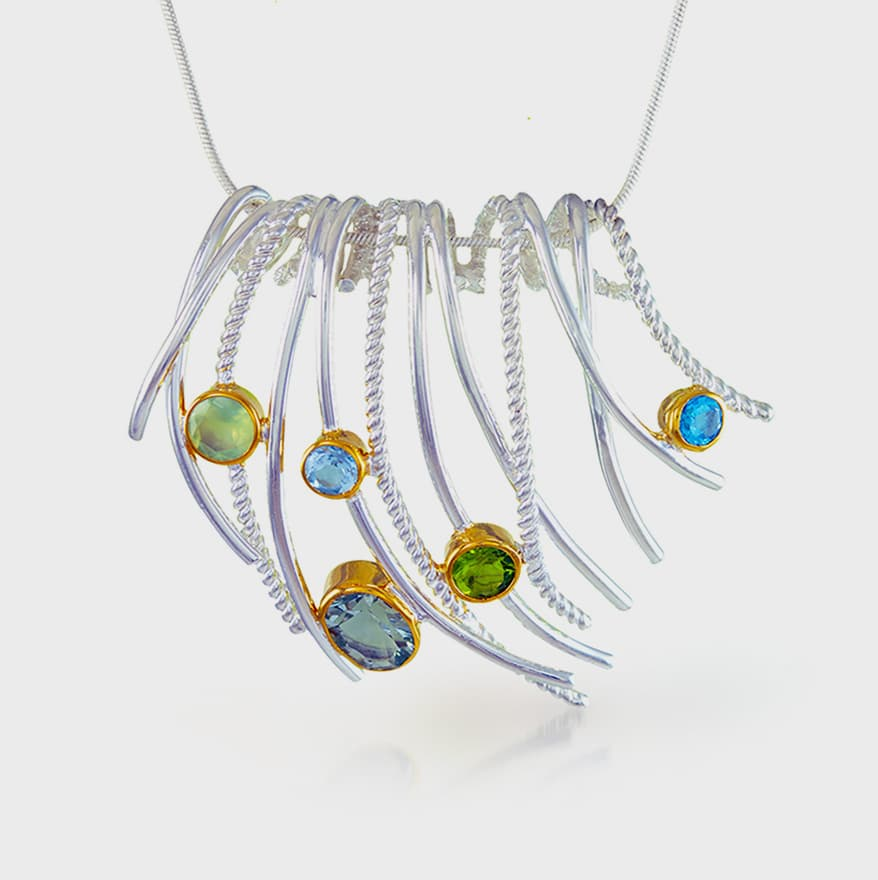 Michou Sterling silver and 22K yellow gold vermeil necklace