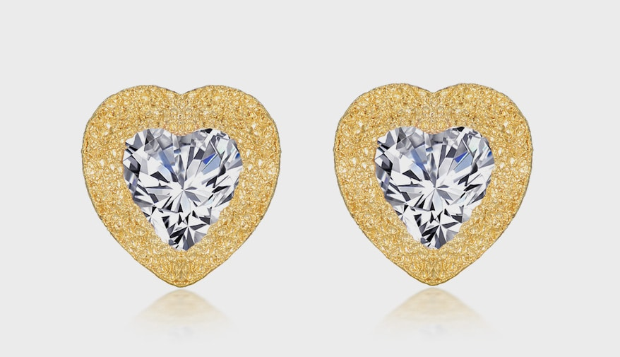 Lafonn Platinum-bonded sterling silver earrings with simulated diamonds