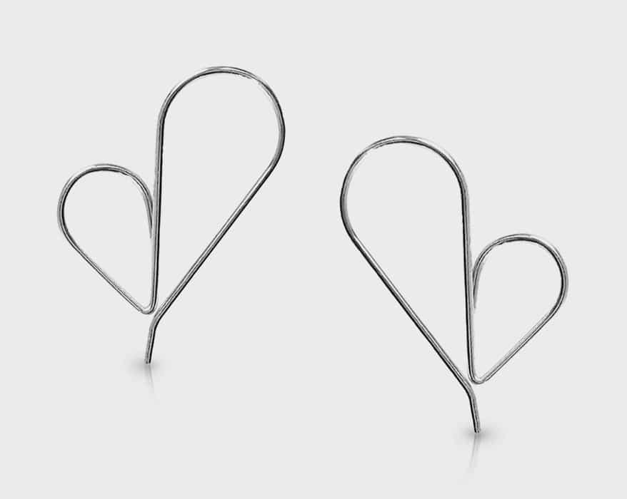 Cindy Liebel Jewelry  Silver earrings.