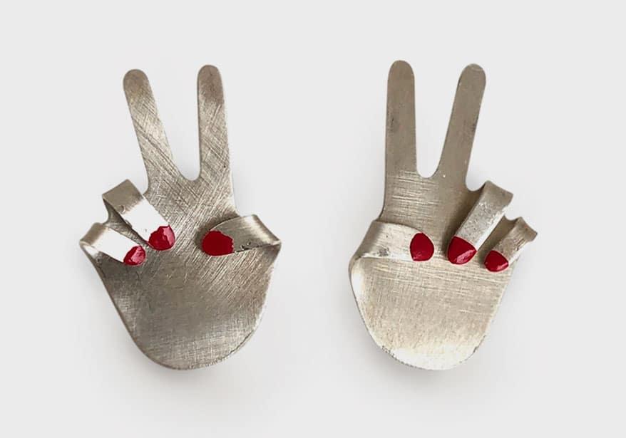 Rachel Pfeffer Silver earrings