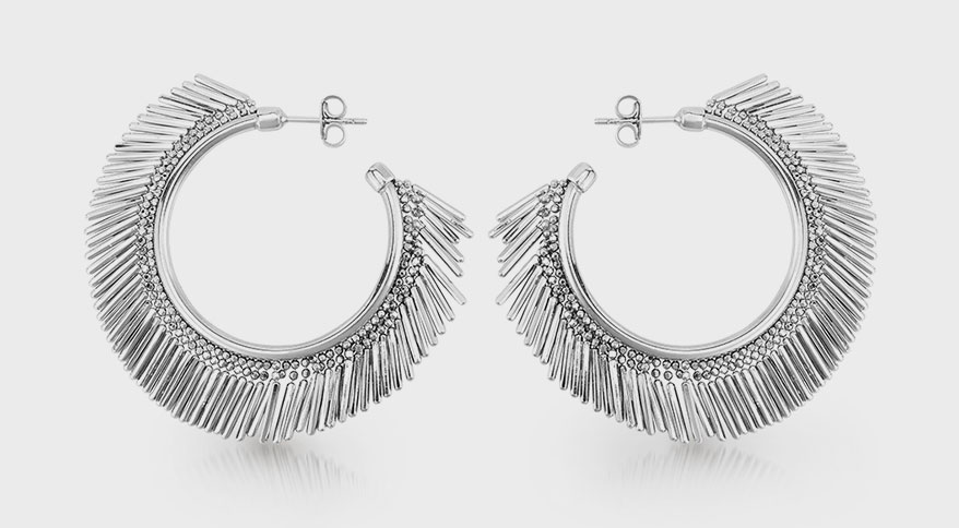 Royal Chain  Sterling silver earrings.