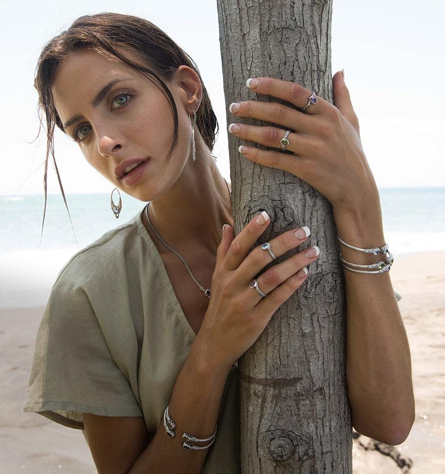 model fro Silver jewelry by Samuel B.