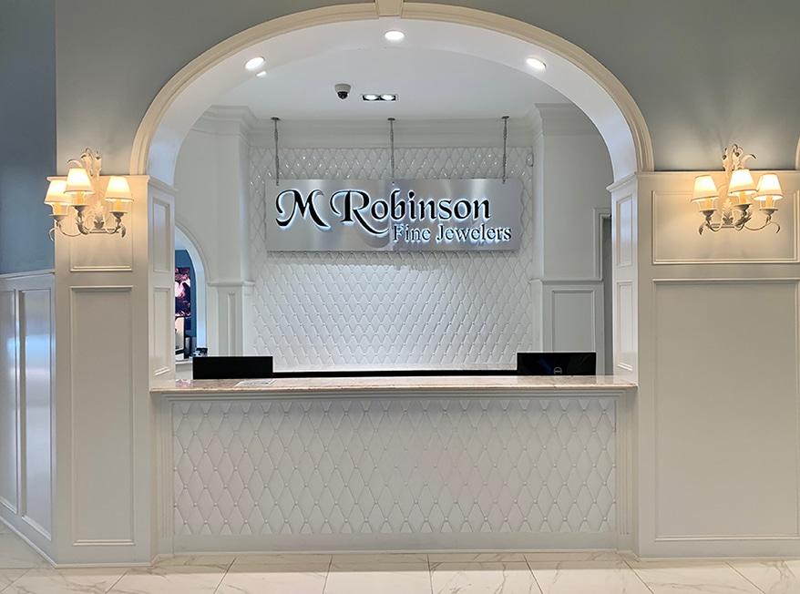 M. Robinson Fine Jewelry counter