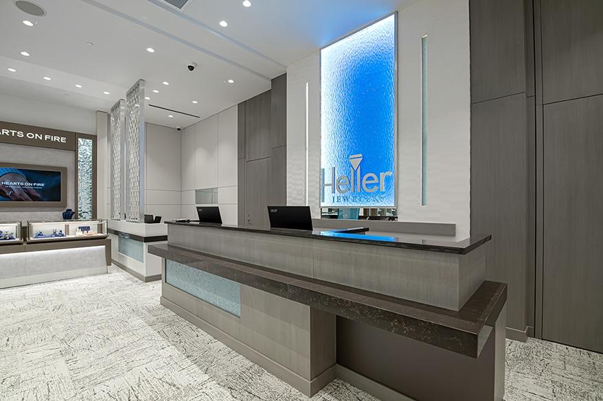 Heller Jewelers counter