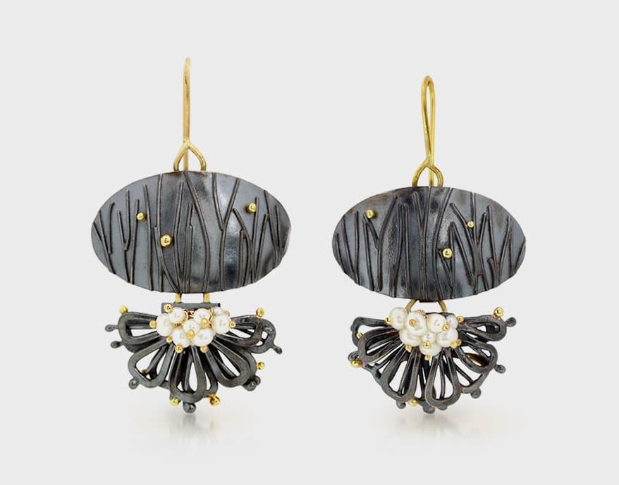 Wendy Stauffer Jewelry Oxidized sterling silver earrings