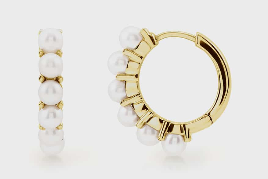 Stuller 14K yellow gold earrings with pearls.