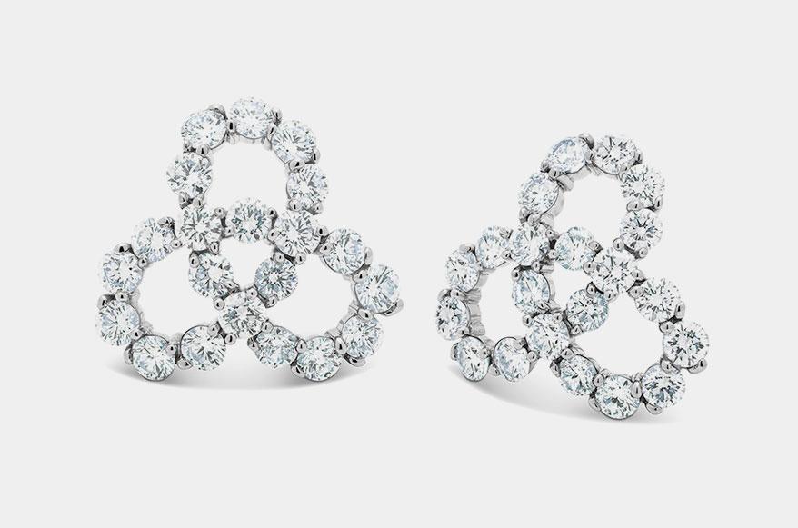 Gumuchian 18K white gold earrings