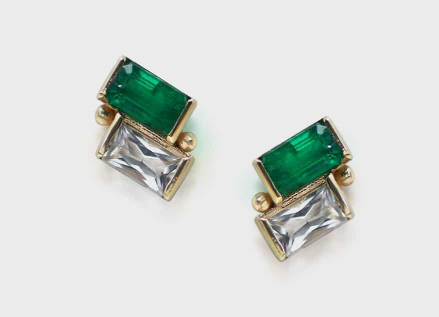 Anzie 14K yellow gold earrings