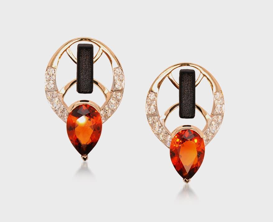 Atalante Fine Jewelry 18K yellow gold earrings