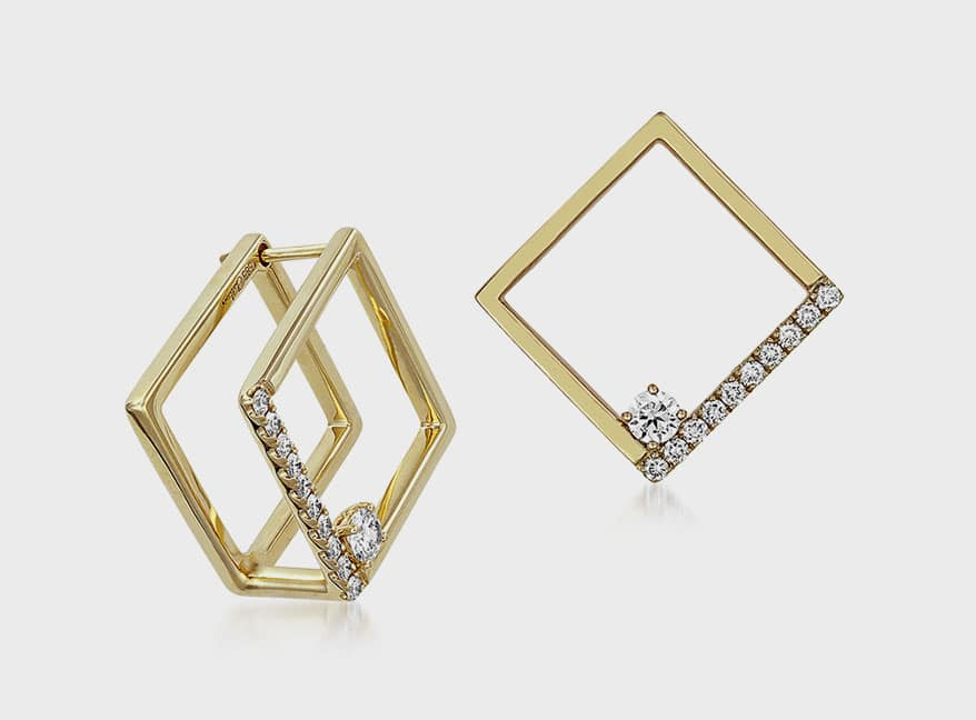 Chatham 14K yellow gold earrings
