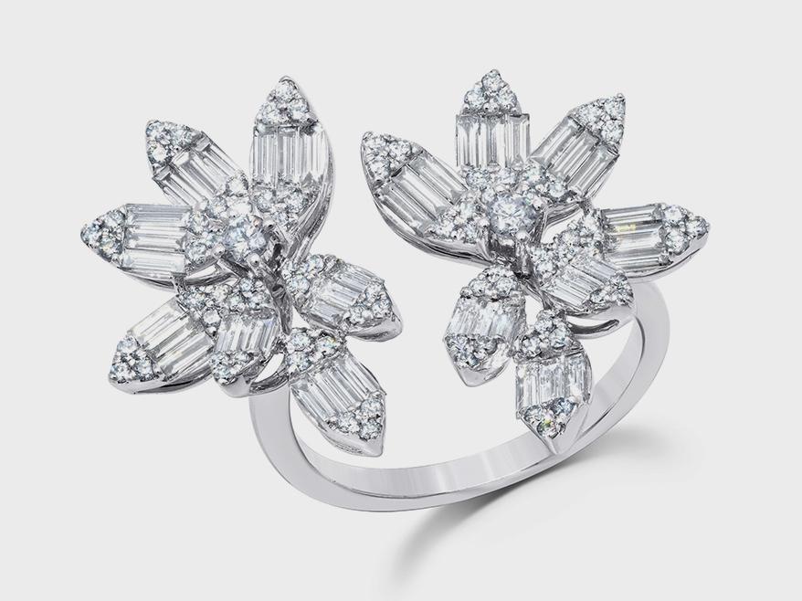 Graziela 18K white gold and diamond ring.