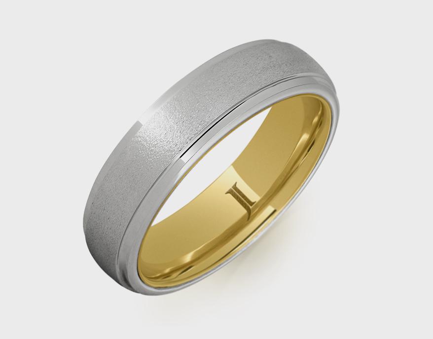 Jewelry Innovations Serinium ring with 10K gold inlay.