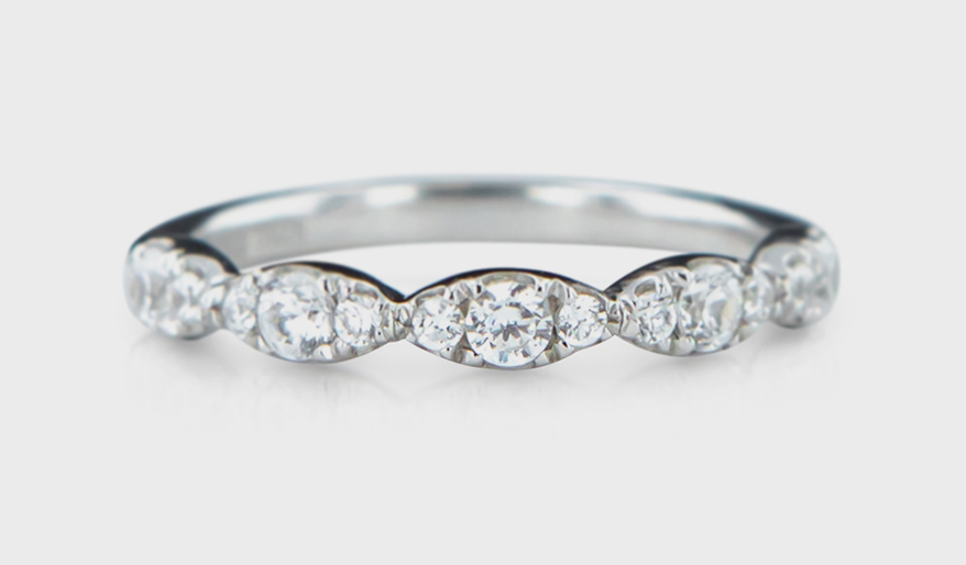 Rare & Forever 14K white gold band with diamonds.