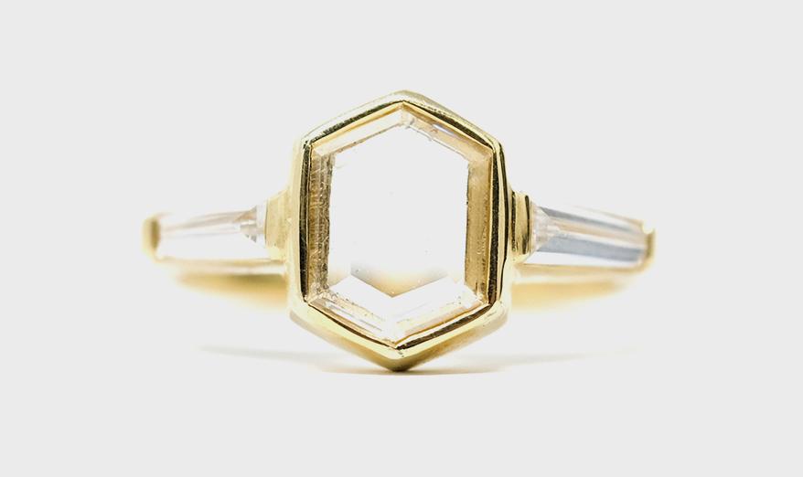Kelty Pelechytik 18K yellow gold ring
