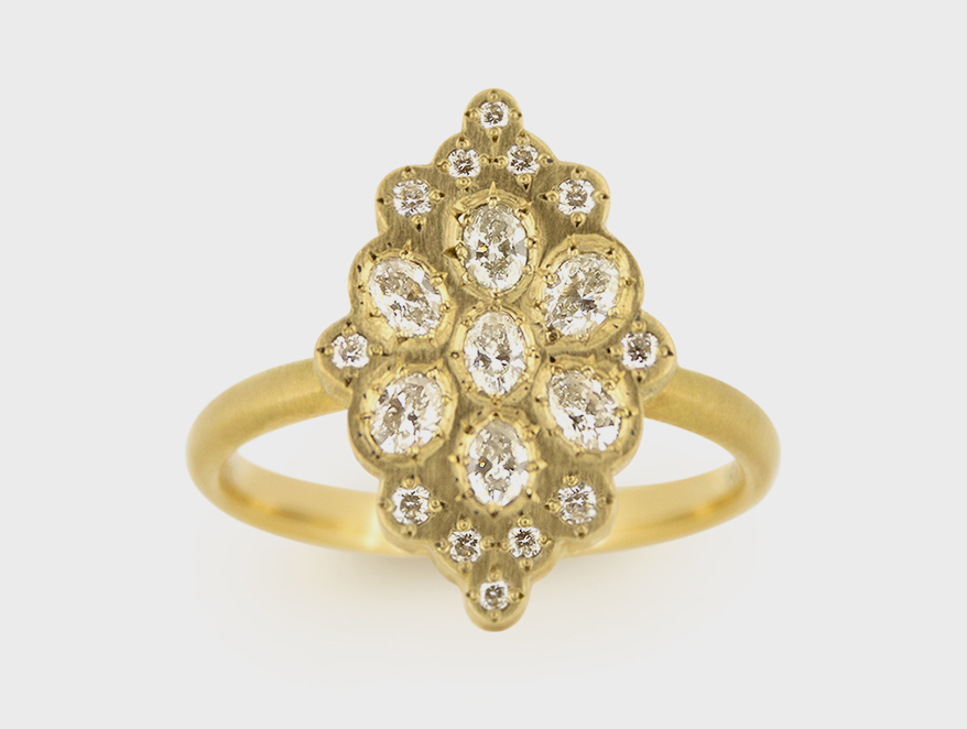 Adel Chefridi 18K yellow gold ring