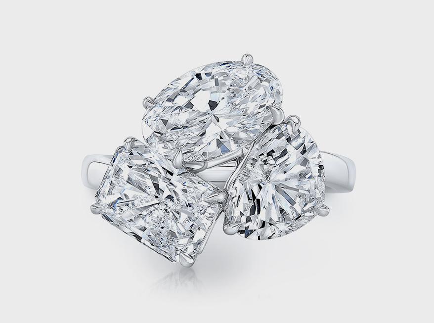 Rahaminov Diamonds Platinum ring