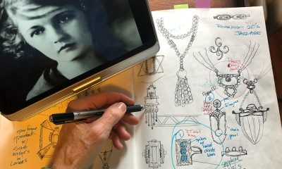 T Lee sketches jewelry designs for each of the extraordinary women who has inspired a series of jewelry collections. She finds creative ways to introduce the women to her clients.