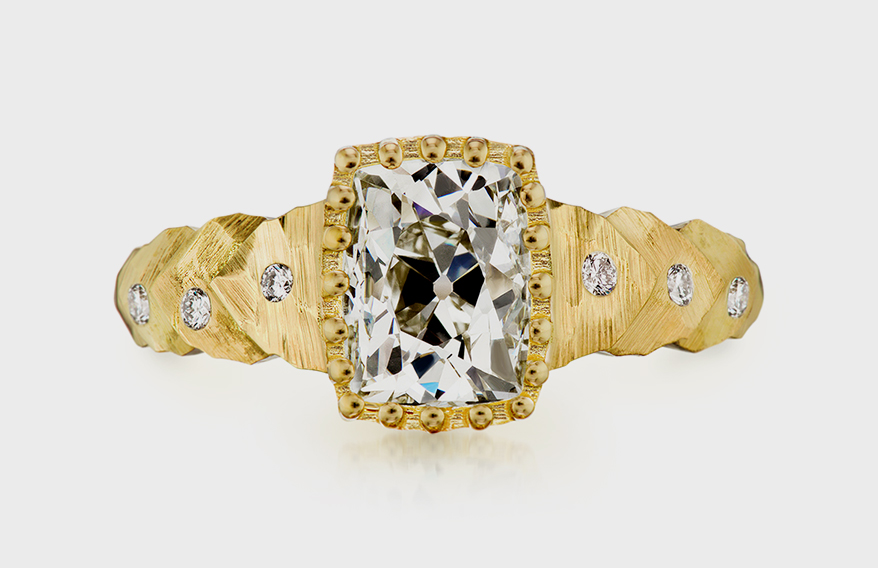 Dana Bronfman 18K yellow gold ring with antique diamond