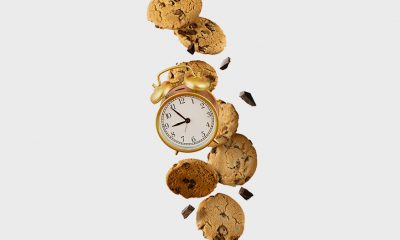 cookies and clock
