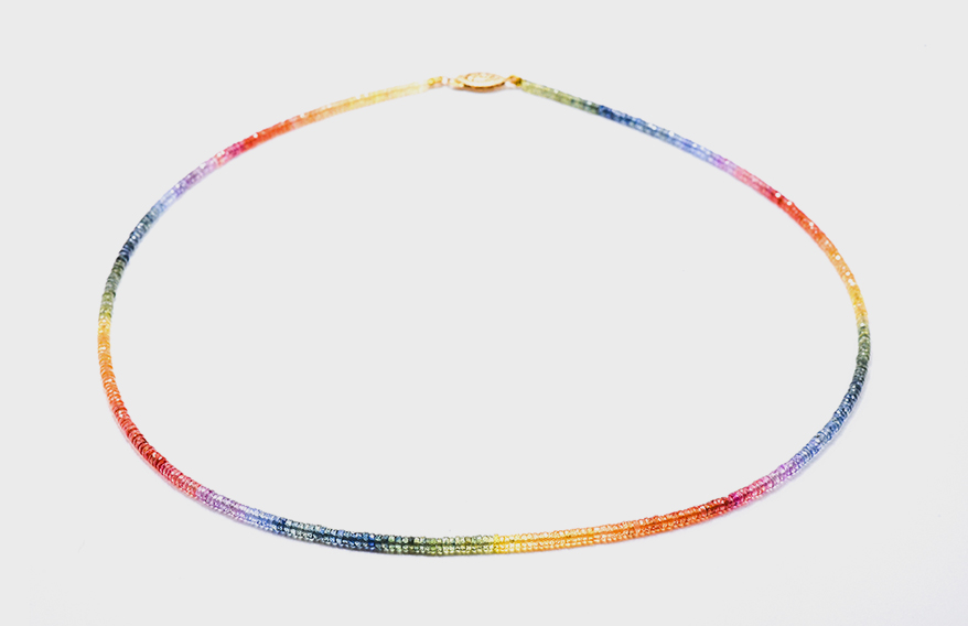 Kimberly Collins Colored Gems Necklace with sapphire beads
