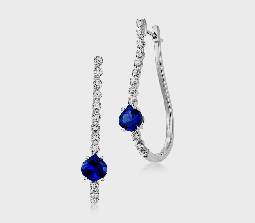 Chatham 14K white gold earrings