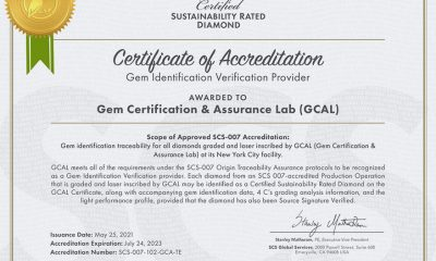 GCAL First Lab Accredited by SCS for Gem Identification Traceability
