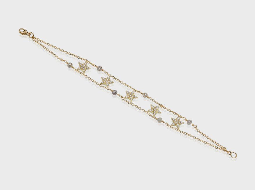 Misahara Jewelry 18K yellow gold bracelet with diamonds