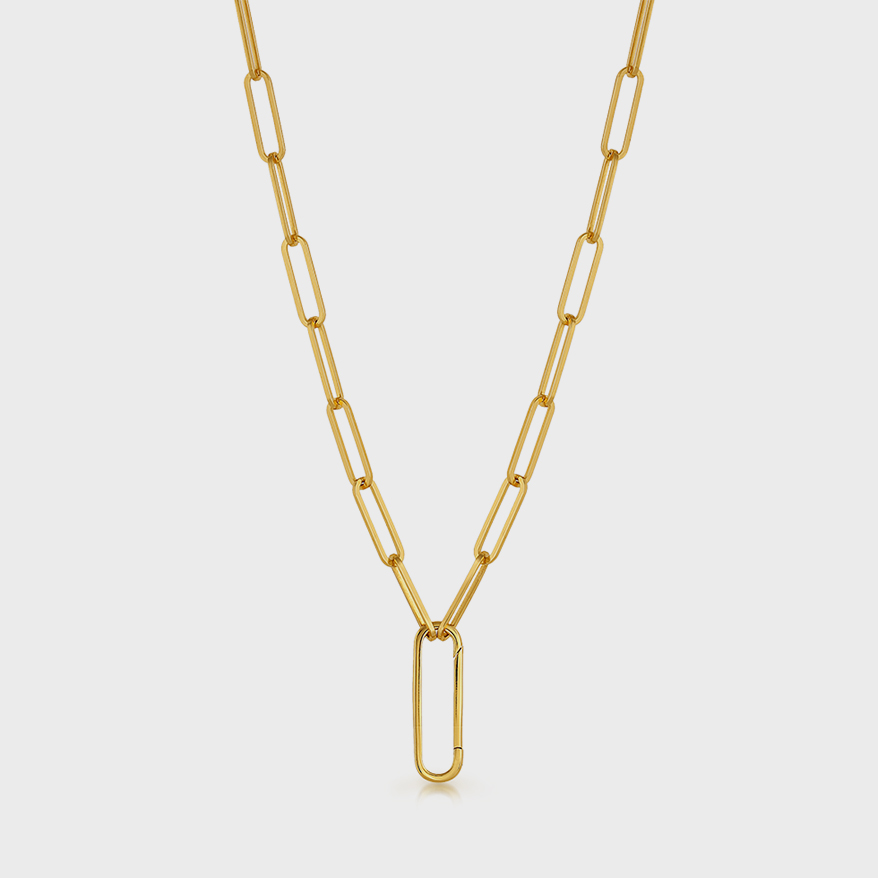 V Coterie Yellow gold vermeil chain with enhancer.