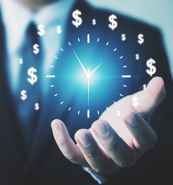 dollar signs in clock form