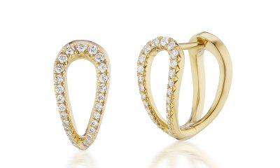 ARK Fine Jewelry diamond infinity huggies
