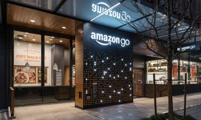 The outside of an Amazon Go location. Photography: Courtesy of Amazon