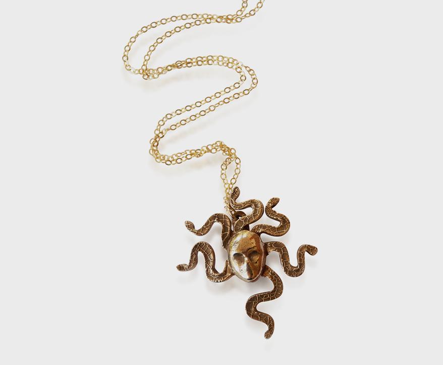 Bang-Up-Betty-Medusa-Head-Necklace-Bronze